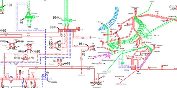 Схема выдачи мощности Новогорьковской ТЭЦ в связи с установкой двух ГТУ GT13E2