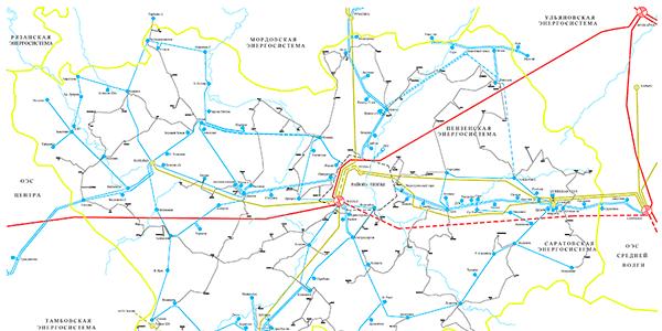 Схема развития электрических сетей 110-35 кВ и ниже филиала ОАО «МРСК Волги» — «Пензаэнерго»